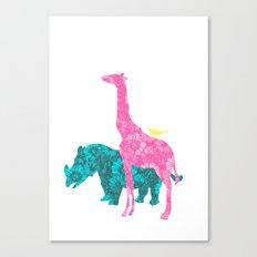 Pink Giraffe Canvas Print