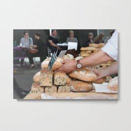 Bakers hands Metal Print
