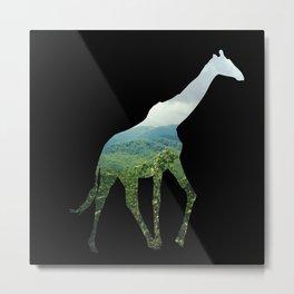 Giraffe in the Smokies  Metal Print