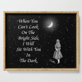 Alice in Wonderland Starry Night Quote Serving Tray