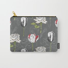 Modern Botanical Carry-All Pouch