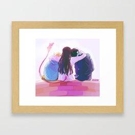 hiyori and her boys Framed Art Print