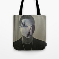depeche mode Tote Bags featuring Gahan ,  the  Depeche  Monster   by SZILVIO KOLLÁZS