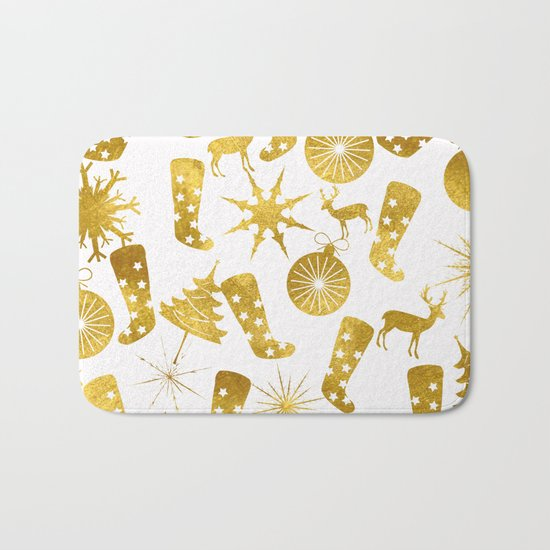 Gold Christmas 06 Bath Mat