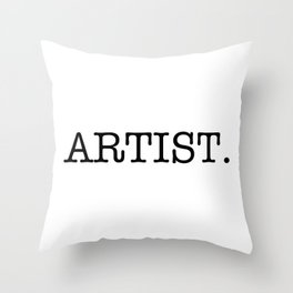 Artist Throw Pillow