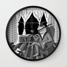 """Now, Play dead."" Wall Clock"