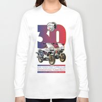 honda Long Sleeve T-shirts featuring Honda First Turbo Club by Saddle Bums