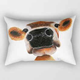 Nosey Cow ' JERSEY JOY ' by Shirley MacArthur Rectangular Pillow