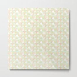 Pastel triangles Metal Print