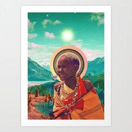 Solar Kenya Collage Art Print