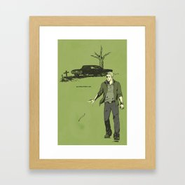 here still Framed Art Print