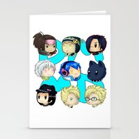 dmmd Stationery Cards featuring DMMD- chibis by prpldragon