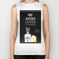 tequila Biker Tanks featuring Avion Tequila by John D'Amelio
