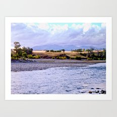 Camping on the Yellowstone River Art Print
