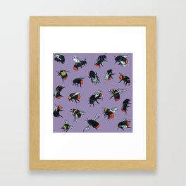 Bombus Lapidarius Framed Art Print