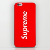 supreme iPhone & iPod Skins featuring Supreme by Harry Martin