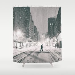 New York City - Snowstorm Shower Curtain
