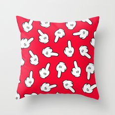 HATERS GONNA HATE! Pattern in red Throw Pillow