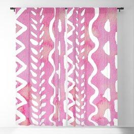Loose boho chic pattern - pink Blackout Curtain