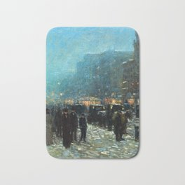 Childe Hassam Broadway and 42nd Street Bath Mat