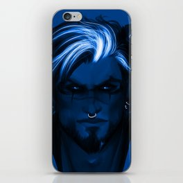Blue punk iPhone Skin