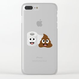 Poop and toilet tissue lovers Clear iPhone Case