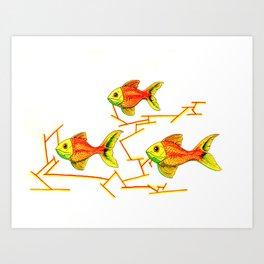 School Fish Art Print