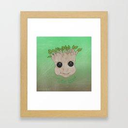 GrootFace Framed Art Print