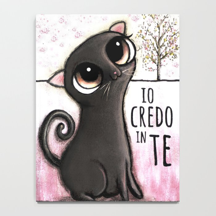 Black cat with big eyes Notebook