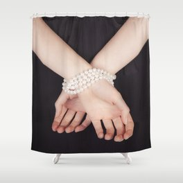 Tied with pearls Shower Curtain