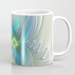 Flying Away, Abstract Shining Fractal Art Coffee Mug