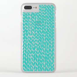 Hand Knit Aqua Clear iPhone Case