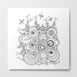 Dragonfly doodle Metal Print