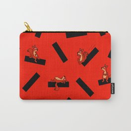 timber squirel - red - 80s abstrakt memphis milano Carry-All Pouch
