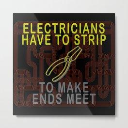 Pliers Electrician Watt Light Metal Print