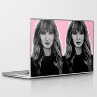 jennifer lawrence Laptop & iPad Skins featuring Jennifer Lawrence by Lydia Dick