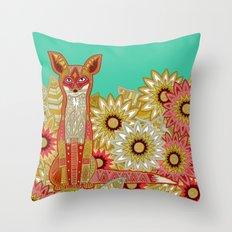 garden fox Throw Pillow