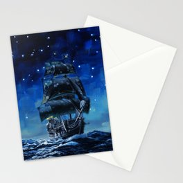 Black Pearl Starry Night Stationery Cards