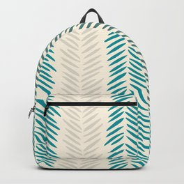 Herringbone bamboo leaves Backpack