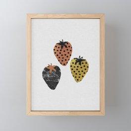 Strawberries Art Print Framed Mini Art Print