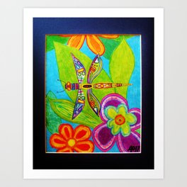 Dragonfly by Anthony Davais Art Print