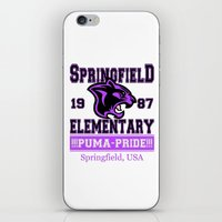 simpsons iPhone & iPod Skins featuring Springfield Elementary Pumas  |  Simpsons by Silvio Ledbetter