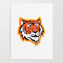 Bengal Tiger Head Mascot Poster