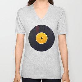 Vinyl Record Star Sign Art | Leo Unisex V-Neck