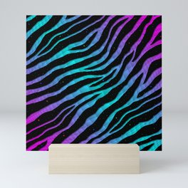 Ripped SpaceTime Stripes - Pink/Cyan Mini Art Print