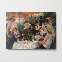 Pierre-Auguste Renoir - Luncheon of the Boating Party Metal Print