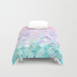 Mermaid Pastel Iridescent Duvet Cover