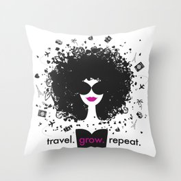 FlyGirl Throw Pillow