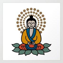 Kawaii Buddah Art Print