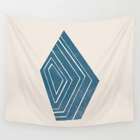 geode Wall Tapestries featuring Geode I - in Sapphire by Amber Barkley